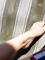Stocking feet, Candid feet, Hidden cam, Girlfriend, Candids, Hidden cams