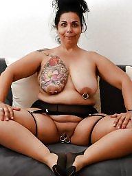 Piercing, Pierced, Nipple, Nipples, Wife amateur, Nipple piercing