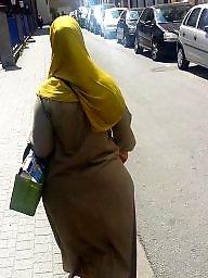 Street, Stockings, Hijab ass, Amateur ass