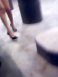 Heels, High heels, Milf upskirt, Candid