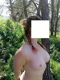 Forest, Public sex, The public, Wife tits, Natural tits, Natural big boob