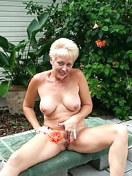 Naked, Garden, Milfs, Mature naked