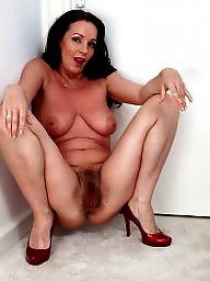 Hairy milf, Hot milf, Brunette milf