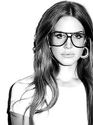 Glasses, Brunette glasses
