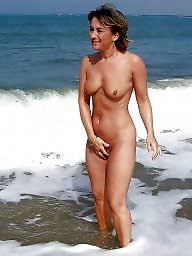 Mature beach, Mature lady