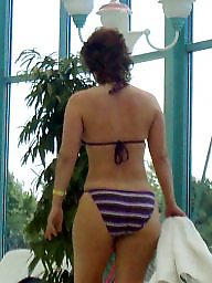Bikini, Candid, Big ass, Milf ass, Bikinis, Big ass milf