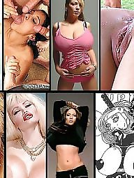 Collage, Big sex toys
