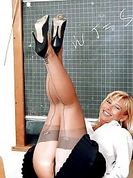 Stocking, Teacher, Milf ass