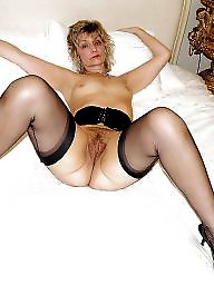 Horny, Mature in stockings, Horny mature, Milf stocking