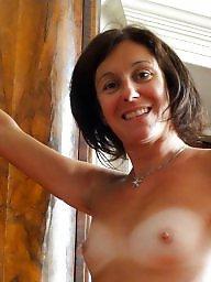 Italian, Topless, Italian amateur, Amateur tits