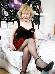 Granny, Old granny, Grannies, Granny stockings, English, Mature granny