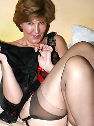 Uk mature, Amateur mature, Stockings mature