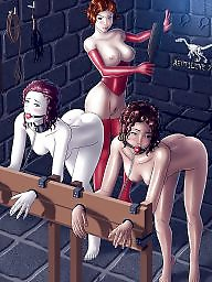 Slave, Bondage, Bdsm cartoon, Hentai, Cartoon bdsm, Slaves