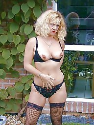 Stocking mature, Mature in stockings, Milf stocking, Garden