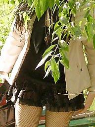 Upskirt, Nylons, Street, Upskirt stockings, Nylon stockings