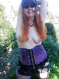 Garden, Mature redhead, Redhead mature