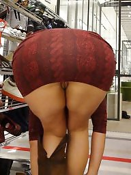 Butt, Candid, Dressed, Mature big ass, Tights, Mature butt