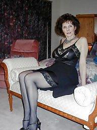 Mature lingerie, Stocking, Stocking mature