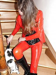 Latex, Catsuit, Red