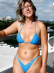 Downblouse, Mature bikini, Bikini, Dressed, Dress, Mature dressed