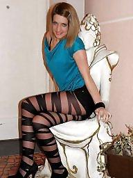 Stockings, Stocking, Heels, High heels, Stockings teens