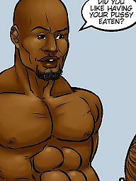 Cartoon interracial, Night