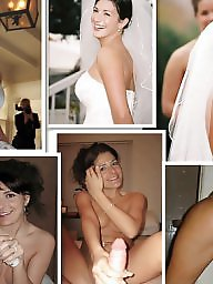 Bride, Flashing, Dressed, Wedding, Before and after, Before