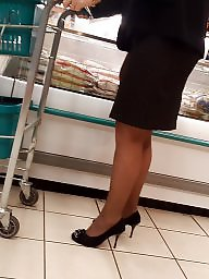 Black, Candid, Hidden, Stockings voyeur, Black milf