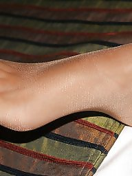 Nylon feet, Feet nylon, Amateur nylon, Stocking feet, Nylons feet