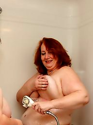 Lesbian, Bbw lesbian, Shower, Shy, Lesbian bbw
