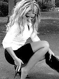 High heels, Heels, Tease, Stockings heels, Teasing, Stockings tease
