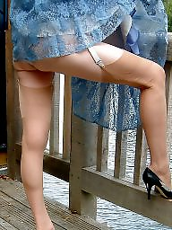Vintage, Mature stockings, Lady, Upskirt stockings, Upskirt mature, Mature lady