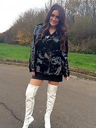 Latex, Leather, Pvc, Boots, Mature boots, Mature pvc