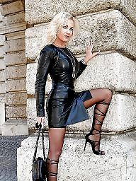 Leather, Boots, Latex, Boot, Women