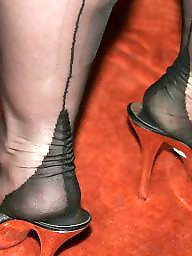 Nylon feet, Mature nylon, Mature heels, Nylons, Mature feet, Heels
