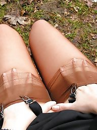 Nylon, Nylons, Lady, Vintage amateur, Upskirt stockings