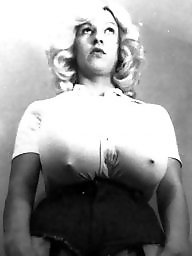 Vintage, Small, Busty, Model, Tina, Vintage boobs