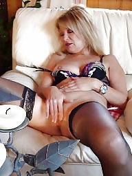 Mature stockings, Italian, Blonde mature, Old mature, Sexy mature, Mature blond