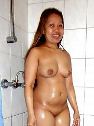 Old pussy, Asian pussy, Shower, Old asians, Clean