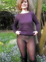 Mature pantyhose, Lady, Mature amateur