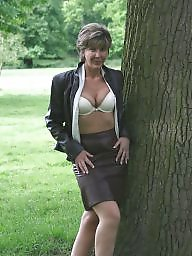 Uk mature, Park, Stocking mature, Parking, Mature uk