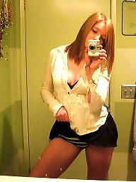 Mirror, Goddess, Redhead amateur