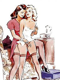 Art, Erotic, Vintage cartoon