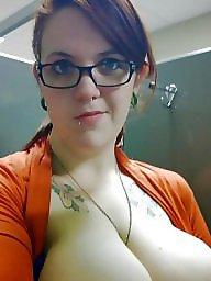Glasses, Amateur big tits, Glass, Big amateur tits