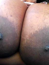 Ebony bbw, Big nipples, Areola, Big ebony