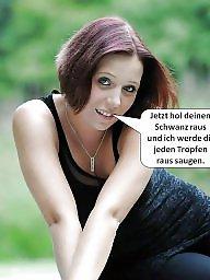Captions, German captions, Caption, German, Funny, German amateurs