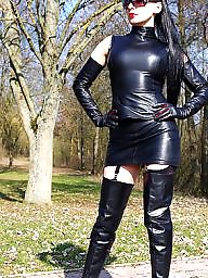 Latex, Leather, Milf tits, Milf upskirt