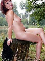 Mature posing, Lake, Sexy milf, Mature pose