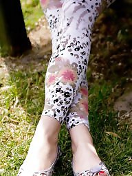 Turkish, Turkish mature, Mature legs, Mature feet, Leggings, Amateur mature