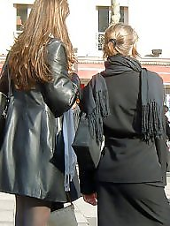 Upskirt stockings, Nylon, Street, Nylons